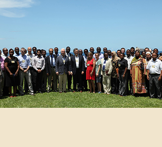 Some of the participants in the first hands-on neurotrauma course, March 3, 2014. Dar Es Salaam, Tanzania.