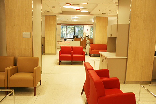 Waiting room:: Weill Cornell Medicine Center for Comprehensive Spine Care