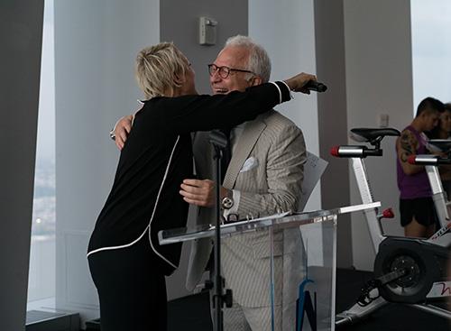 Former patient Nancy Jarecki was the surprise presenter of Dr. Stieg's Stroke Hero Award
