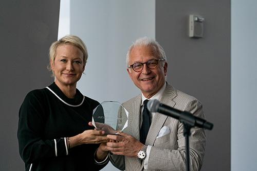Dr. Stieg and former patient Nancy Jarecki