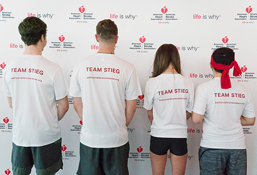 Team Stieg raised more than $7,000 for the AHA|ASA