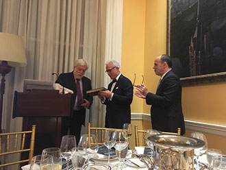 Dr. Philip Stieg delivered the 2018 Elsberg lecture