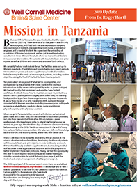 Weill Cornell Medicine Neurosurgical Training in Tanzania 2019