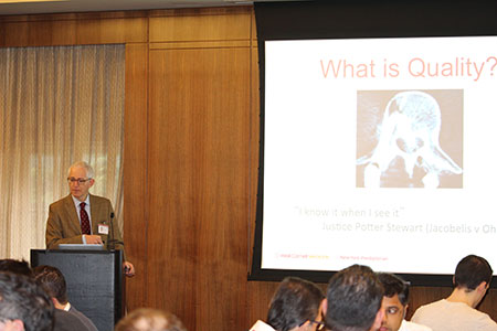 Dr. Eric Elowitz presented on quality at the Complex Spine CME
