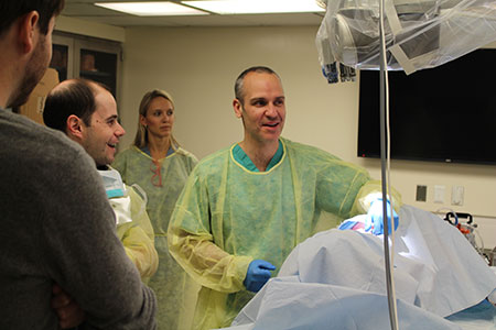 Dr. Daniel Sciubba in the lab at the Weill Cornell Complex Spine CME