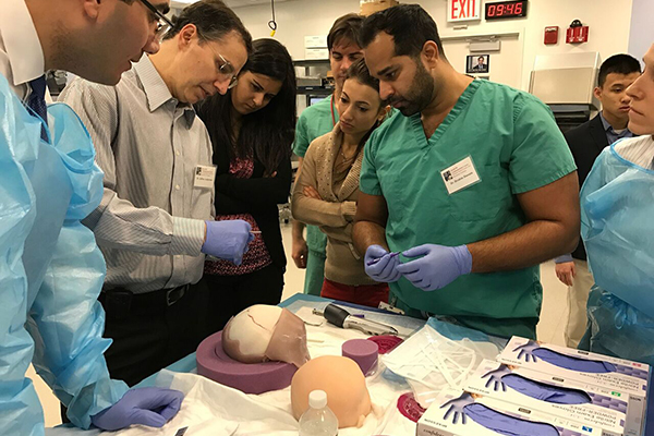 Dr. Jeffrey Ascherman demonstrates initial surgical steps