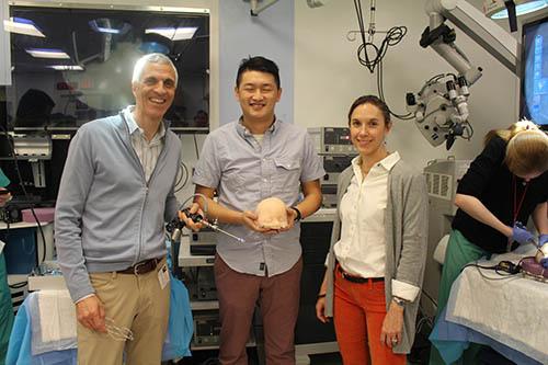 Dr. Souweidane, Du Cheng, & Dr. Hoffman