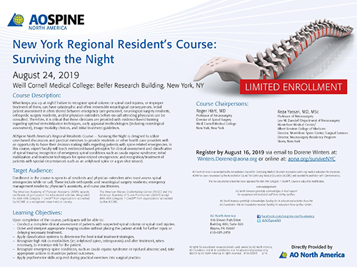 AOSpine Regional Residents Course: Surviving the Night