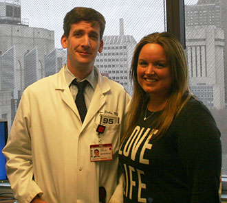 Dr. Dinkin and Allyson Tlacoxolal
