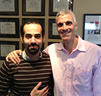 Mark Souweidane, MD, of Weill Cornell Medicine with pediatric neurosurgery fellow Assem Mounir Abel Latif, 2015