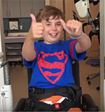 Braiden Norton learns to walk again