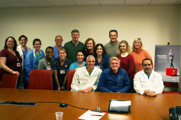 The ER, PICU, child life, and surgical teams that saved Brandon's life were reunited with the teen and his family