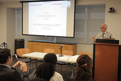 Dr. Stieg hosted the NYC Regional Cancer Moonshot Summit