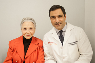Joyce Carpati with Dr. Michael Virk