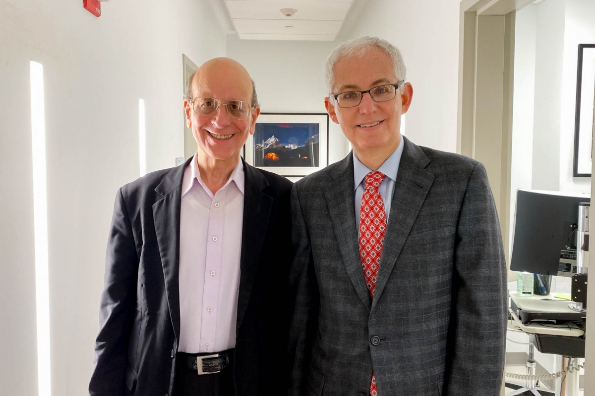 Robert Caterina and Dr. Eric Elowitz