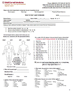 Comprehensive Center for Spine Care New Patient Questionnaire