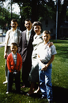 Dr. Stieg as a child with his parents and brothers