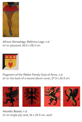 Panels from the Frank Walter exhibition