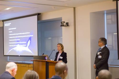 Dr. Caitlin Hoffman addresses attendees