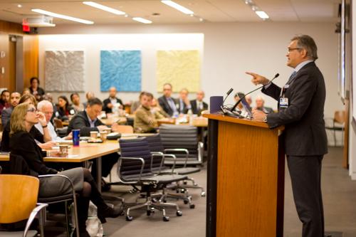 Dr. Roger Härtl addresses attendees