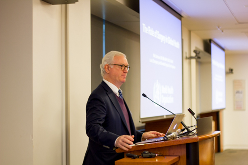 """Dr. Walter Johnson delivers his keynote address, """"The Role of Surgery in Global Health"""""""
