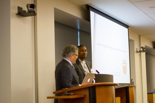 Dr. Roger Härtl introduces his colleague in Tanzania, Dr. Hamisi K. Shabani