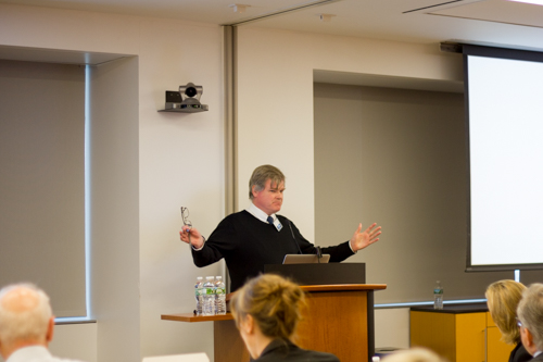 """Dr. Daniel Fitzgerald gives his talk, """"Reflections on the Role of Surgery in Global Health"""""""