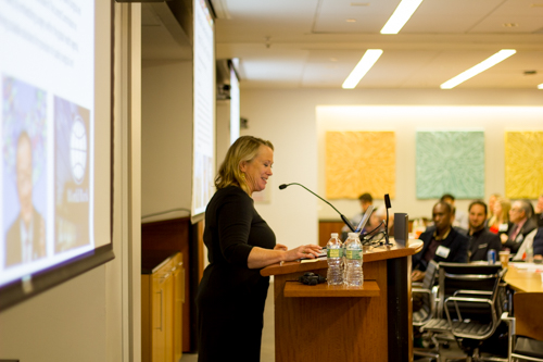"Dr. Gail Rosseau gives her talk, ""Global Neurosurgery: Accelerating Progress through Partnerships"""