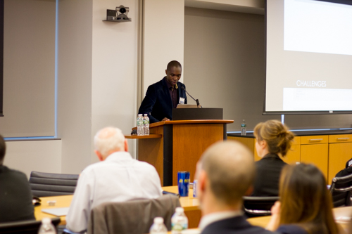 """Dr. Nicephorus Rutabasibwa gives his talk, """"Spine Surgery in East Africa: Challenges and Needs"""""""