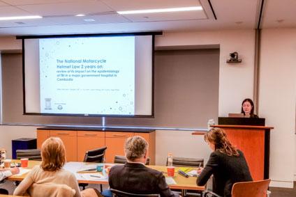Dr. Sara Venturini gives an oral presentation
