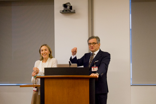 Co-directors Dr. Caitlin Hoffman and Dr. Roger Härtl thank attendees