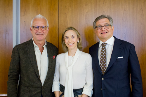 Dr. Philip E. Stieg with co-directors Dr. Caitlin Hoffman and Dr. Roger Härtl