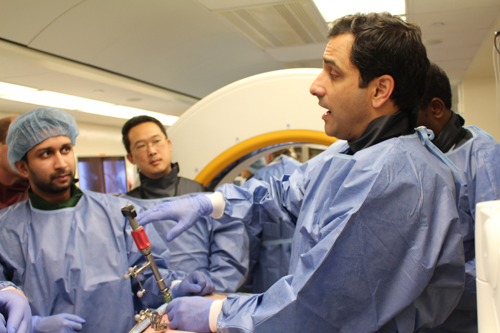Dr. Michael Virk demonstrates spinal procedures