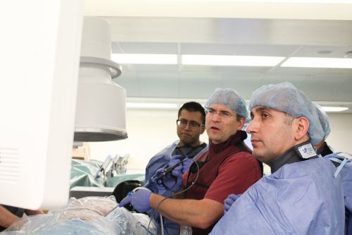 Dr. Murat Cosar learns new minimally invasive techniques