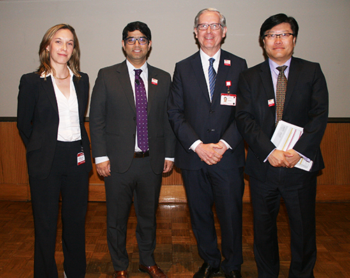 Drs. Hoffman, Haider, and Michelassi along with Weill Cornell Medical College Dean Augustine Choi