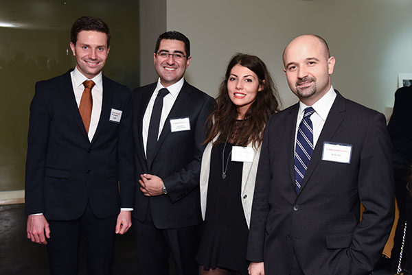 Dr. Ali Baaj (right) with Weill Cornell Medicine spine fellows Drs. Gernot Lang, Rodrigo Navarro-Ramirez, and Chloe Curri