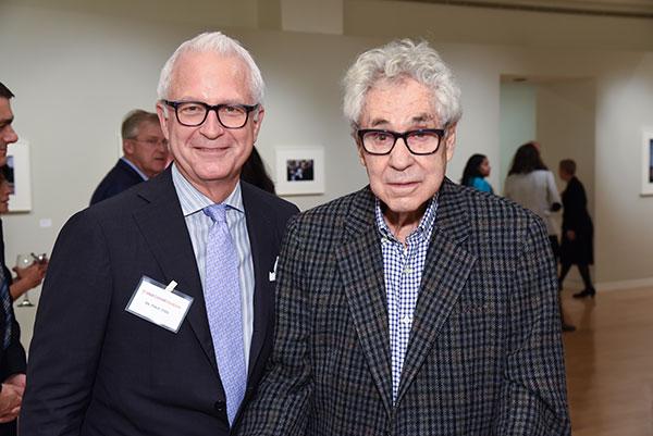 Dr. Philip Stieg with photographer Elliott Erwitt
