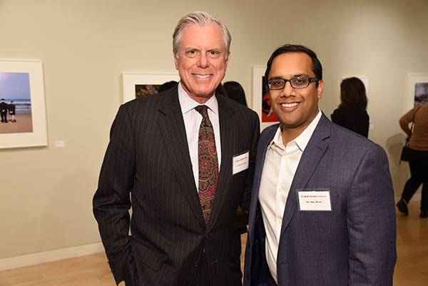 Dr. Michael Lavyne with Spine Center co-director Dr. Neel Mehta