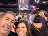 Kathy Zaccaria and her husband at Bruce Springsteen concert 10 days after surgery