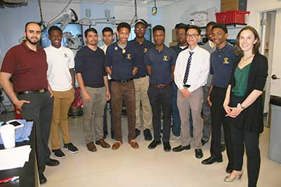The students from Mount St. Michael Academy