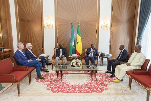 Meeting with the President of Senegal, Macky Sall