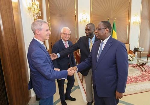 Dr. Greenfield meets the President of Senegal, Macky Sall