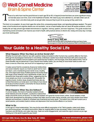 Your Guide to a Brain-Healthy Social Life
