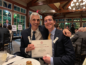 Dr. Mark Souweidane with Dr. Benjamin Rapoport