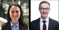 Alexandra Giantini Larsen and Andrew Garton, who matched as neurosurgery residents at Match Day 2019