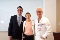 Dr. Benjamin Hartley, Dr. Caitlin Hoffman, and Dr. Philip Stieg, Chairman of the Neurological Surgery Department