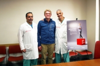 Dr. Athos Patsalides, Brandon Hibbs, and Dr. Mark Souweidane