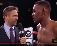 Daniel Jacobs acknowleged Dr. Hartl from the ring after his win