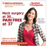 Elle Aviv billboard for Weill Cornell Medicine