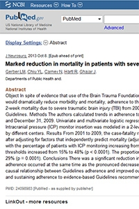 Marked reduction in mortality in patients with severe traumatic brain injury
